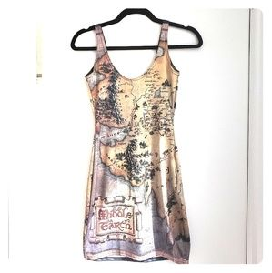 The Hobbit Map Dress